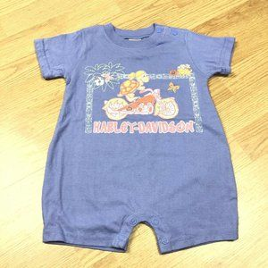 Baby Harley Davidson One Piece Outfit Girls 12 mo